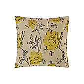 Linea Floral Jacquard Cushion - Lime