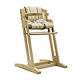 Whitewash BabyDan Danchair High Chair & Beige Comfort Cushion