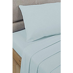 Basics Polycotton Fitted Sheet - Duck Egg, Double