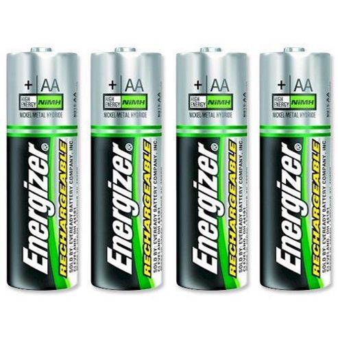 Energizer 2000 mAh Rechargeable AA Batteries - 4 Pack.