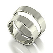 9ct White Gold 5mm Flat Wedding Band