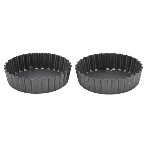 Professional Go Cook Mini Flan Tins, 2 Pack