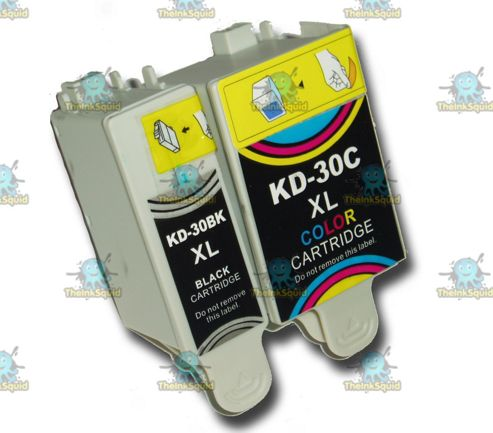 1 Set of Kodak 30 XL (30B + 30CL) Compatible Ink Cartridges for ESP & Hero Printers