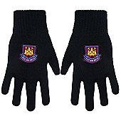 West Ham United FC Knitted Gloves Black