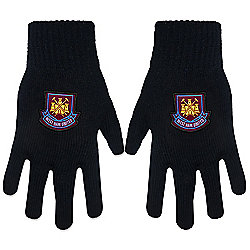 West Ham United FC Knitted Gloves Black
