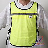 Viga Cycling Fluro Yellow Mesh HiVis Bibs Vests