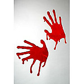 Blooded Hands Window Decoration