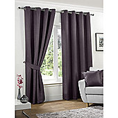 KLiving Neva Blackout Eyelet Curtains 90x90 - Aubergine (229x229cm)