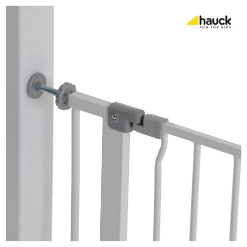 Hauck Squeeze Handle Metal Pressure Fix Safety Gate - White