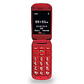 TTfone Venus TT700 Big Button Flip Mobile Phone for the Elderly - Sim Free - Red