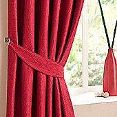 Homescapes Red Curtains Tie Backs Pair Swirl Design
