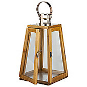 Tapered Wooden Candle Lantern Large