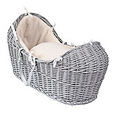 Clair de Lune Grey Noah Pod Moses Basket (Honeycomb Cream)