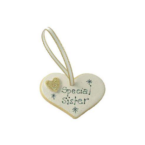 Special Sister Gold Sparkle Heart Keepsake