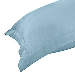 Homescapes Blue Egyptian Cotton Oxford Pillow Case 200 TC