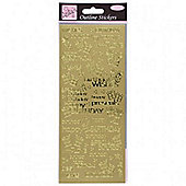 Outline Stickers Special Birthday Wishes Gold