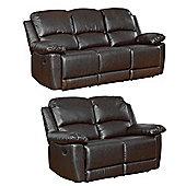 Sofa Collection Lucerne 3+2 Recliner Sofas - Black