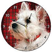 Smith & Taylor Tartan Westie Dog Wall Clock