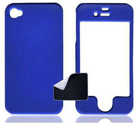 U-bop ShadowSHELL Rubberised Case Charcoal Blue - For Apple iPhone 4, 4S S