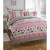 Dreams n Drapes Dominique Pink Single Quilt Set