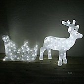 Light Up Reindeer & Sleigh LED Christmas Figure