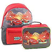 Disney Cars Backpack and Lunchbag Bundle