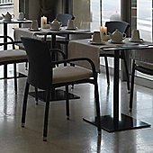 Varaschin Cafeplaya Dining Chair with Arms by Varaschin R and D (Set of 2) - Dark Brown - Without