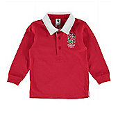 England RFU Baby Long Sleeved Rugby Shirt - Red - Red