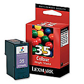 Lexmark Colour No 35 High Yield Colour Print Cartridge