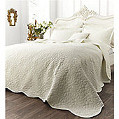 Catherine Lansfield Home Floral Generic Bedspread - Cream