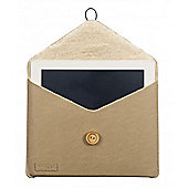 Sheepskin Look iPad 3 Pouch Beige
