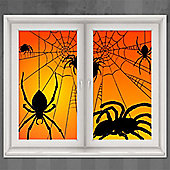 Halloween Spider Window Decorations - 1.65m