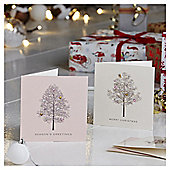 Luxury Winter Tree Scene Christmas Cards, 10 pack