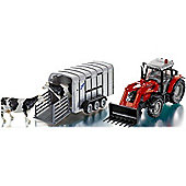 Siku Massey Ferguson 894 With Ifor Williams Trailer & Cows 1:32 Model Farm Toys