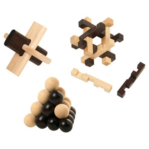 ultimate IQ tests set of 3 wooden puzzles