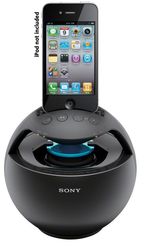 SONY RDPV20IP PORTABLE IPOD DOCK (BLACK)