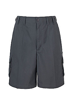Trespass Mens Gally Multi Pocket Cargo Shorts - Grey