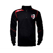 BLK Sport Toulouse Rugby 1/4 Zip Pullover 15/16 - Black