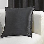 KLiving Ravello Faux Silk Cushion Cover Black (pack of 4)