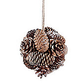 Natural Pine Cone Ball Hanger Christmas Decoration