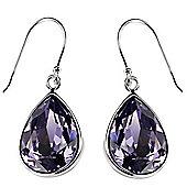 Purple Swarovski Tear Drop Earrings