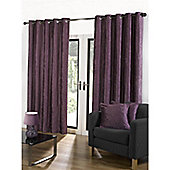 Velvetine Eyelet Curtains 168 x 183cm - Heather