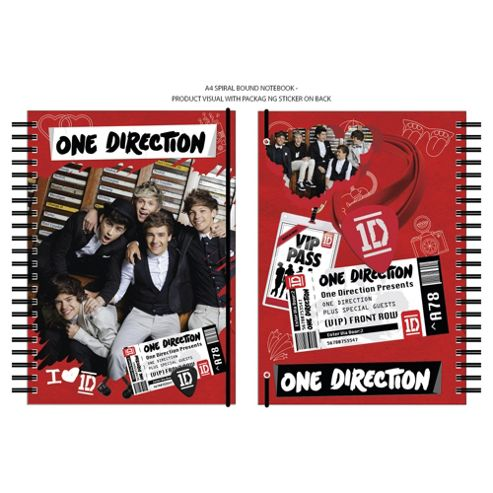 One Direction A4 Spiral Notebook