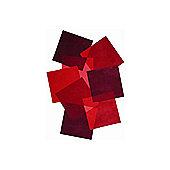 Angelo Pebbles Red Tufted Rug - Runner 250cm x 70cm (8 ft 2.5 in x 2 ft 3.5 in)