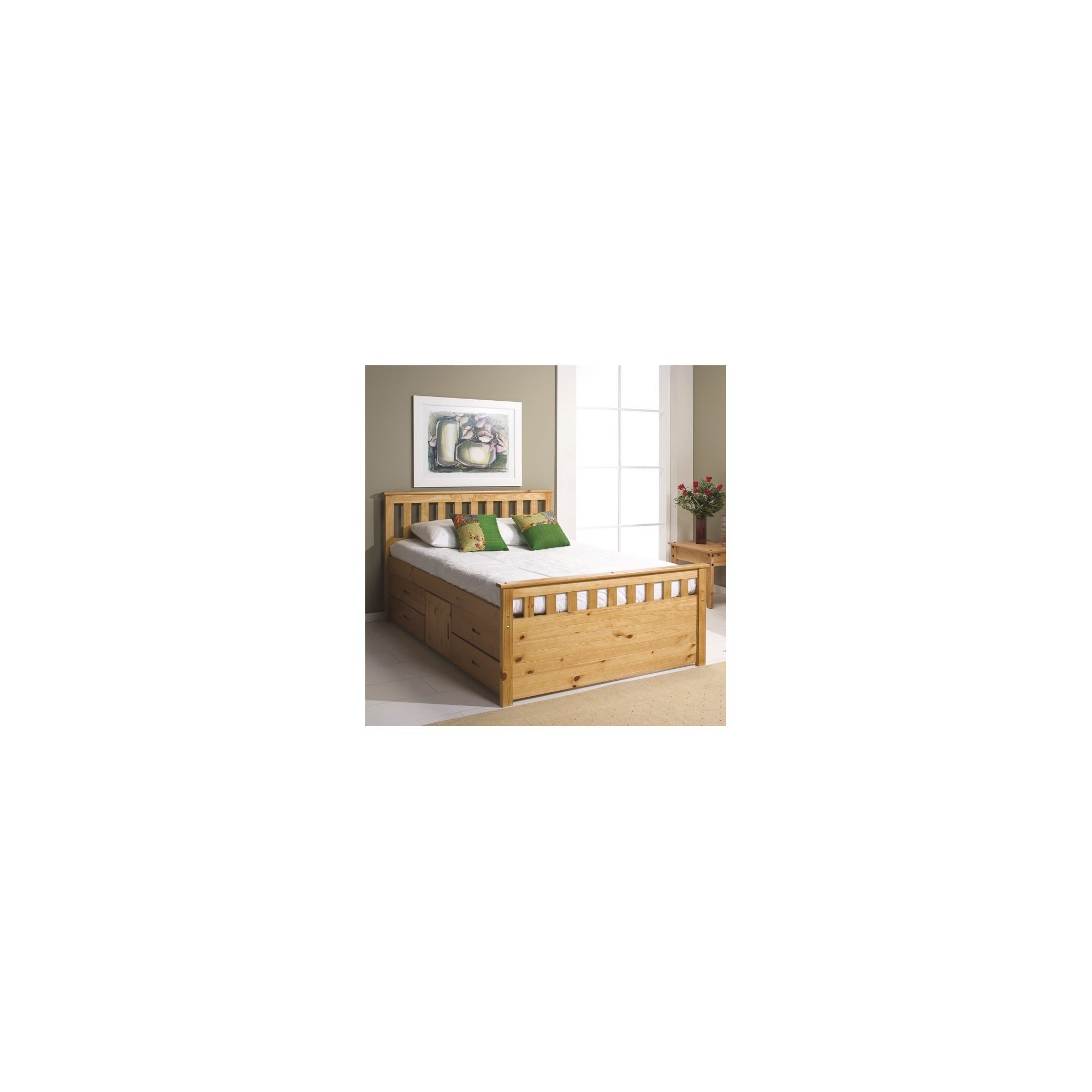 Verona Ferrara Captains Bed - One Side - Single - Antique at Tesco Direct
