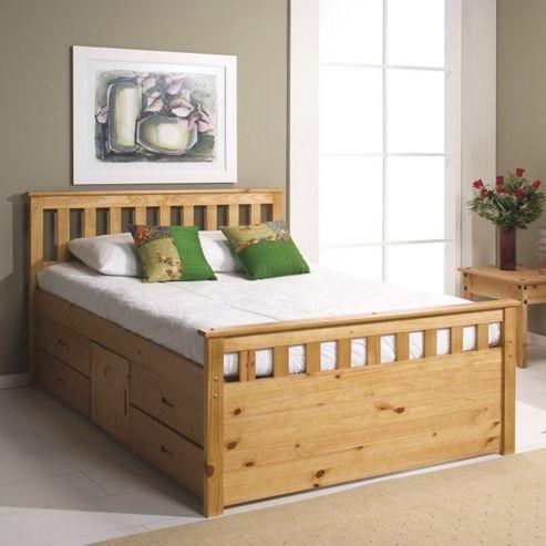 Verona Ferrara Captains Bed - One Side - Single - Antique