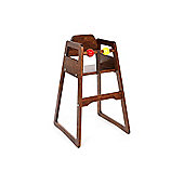 Scandinavian Selection No Tray High Chair Stained Brown