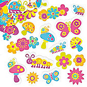 Groovy Garden Foam Stickers (Pack of 100)