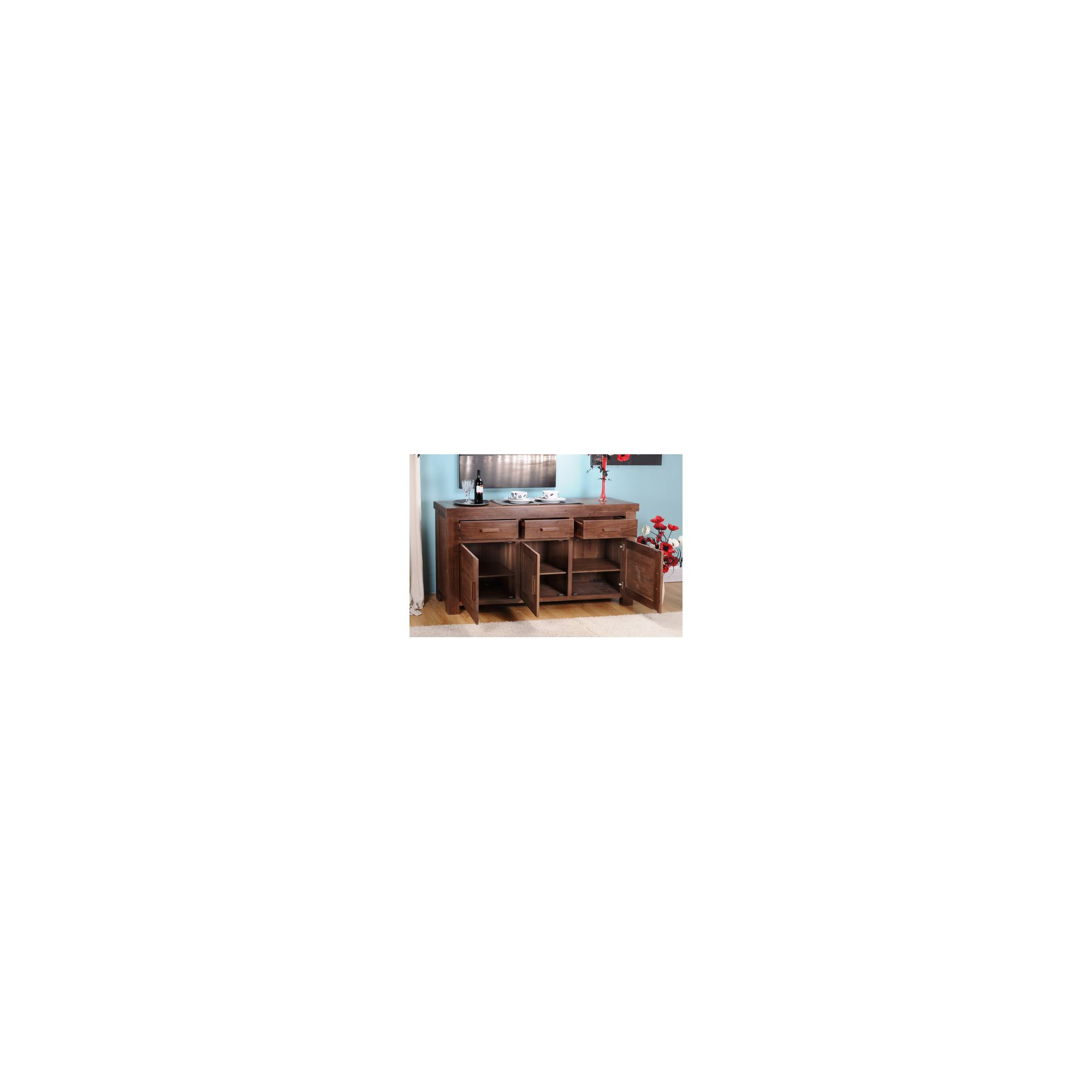 Shankar Enterprises Grand Marseille Large Sideboard - Walnut at Tesco Direct
