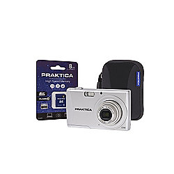 Praktica Luxmedia Z250 Silver Camera Kit inc 8GB SD Card & Case